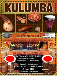 Kulumbá en concierto | Lavapiés Diverso 2015 | Sábado 14/112015 | Plaza de Agustín Lara | Lavapiés - Madrid