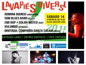 Lavapiés Diverso 2015 | Cartel concierto | Plaza de Agustín Lara | 14/11/2015 | Lavapiés - Madrid