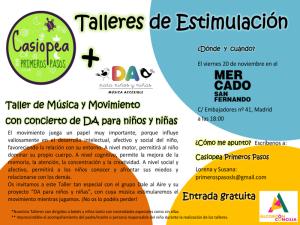 Lavapiés Diverso 2015   Casiopea Primeros Pasos   Taller de estimulación   Mercado de San Fernando   20/11/2015   Lavapiés - Madrid