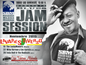 Lavapiés Diverso 2015 | Conciertos Sociedad de Blues de Madrid | Domingos 15, 22 y 29 del 11 de 2015 | Taberna Alabanda | Lavapiés - Madrid