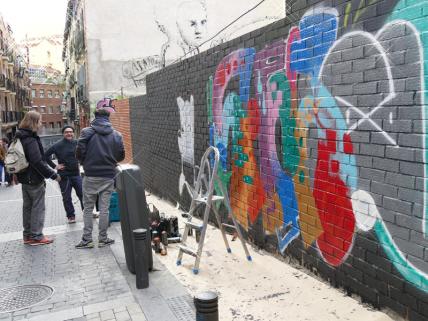 Lavapiés Diverso 2015 | 'Muro Abierto' | Jam de graffiti y arte urbano | 22/11/2015 | 1 | Foto Yolanda Pérez