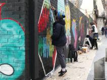 Lavapiés Diverso 2015 | 'Muro Abierto' | Jam de graffiti y arte urbano | 22/11/2015 | 10 | Foto Yolanda Pérez