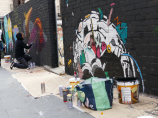 Lavapiés Diverso 2015 | 'Muro Abierto' | Jam de graffiti y arte urbano | 22/11/2015 | 13 | Foto Yolanda Pérez