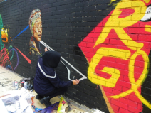 Lavapiés Diverso 2015 | 'Muro Abierto' | Jam de graffiti y arte urbano | 22/11/2015 | 17 | Foto Yolanda Pérez