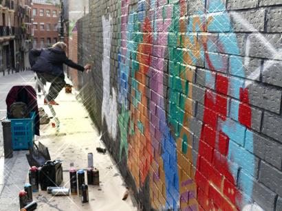 Lavapiés Diverso 2015 | 'Muro Abierto' | Jam de graffiti y arte urbano | 22/11/2015 | 20 | Foto Yolanda Pérez