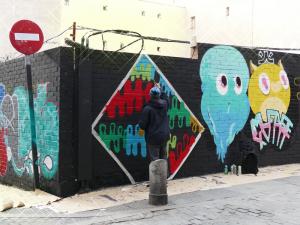 Lavapiés Diverso 2015 | 'Muro Abierto' | Jam de graffiti y arte urbano | 22/11/2015 | 3 | Foto Yolanda Pérez