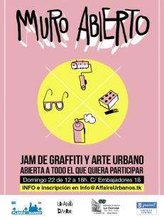 Lavapiés Diverso 2015   'Muro Abierto' Jam de graffiti y arte urbano   22/11/2015   Cartel web