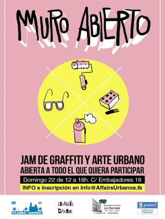 Lavapiés Diverso 2015 | 'Muro Abierto' Jam de graffiti y arte urbano | 22/11/2015 | Cartel web