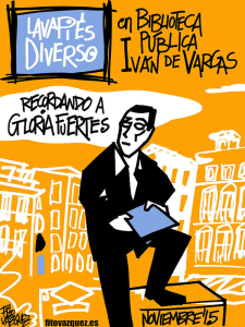 Lavapiés Diverso 2015 | 'Recordando a Gloria Fuertes' | Biblioteca Pública Municipal Ivén de Vargas | Noviembre 2015 | Madrid | Cartel Fito Vázquez