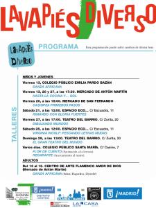 Lavapiés Diverso 2015 | Talleres | Programa